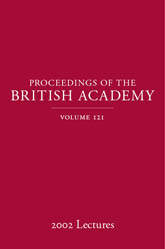 Proceedings of the British Academy, Volume 121, 2002 Lectures